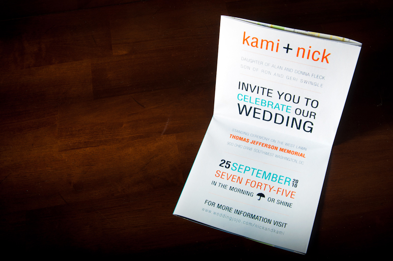 Wedding invitation graphic design nick kami swingle designgraphic stopboris