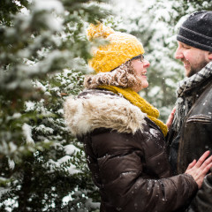 Marianne & Paul's Snowy Engagement